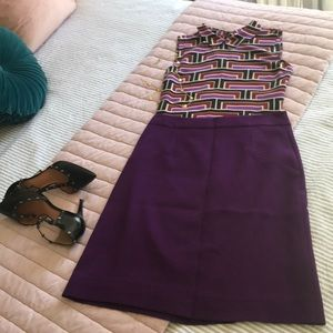 Royal purple Kate Spade skirt.